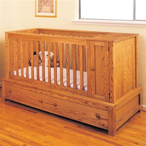 woodworking project paper plan  build crib  bed