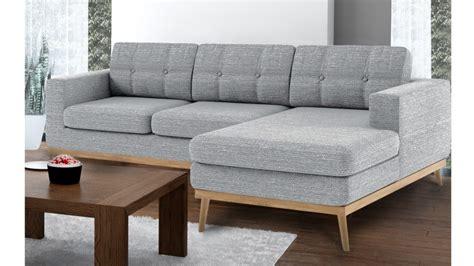 canapé d 39 angle tolbon capitoné de style scandinave en