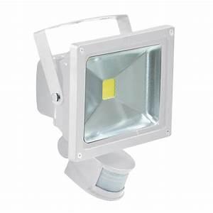 White w led flood light with pir sensor