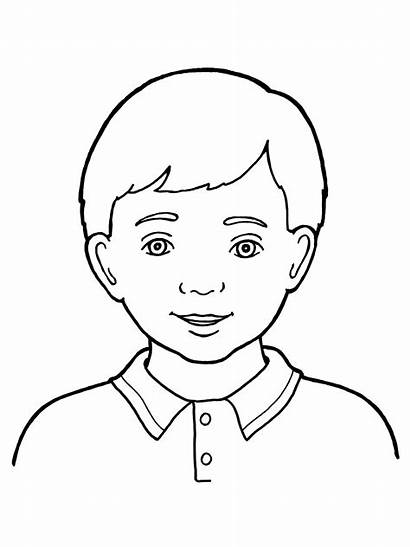 Boy Drawing Primary Coloring Brother Pages Line