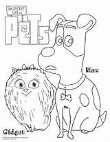 Pets Coloring Secret Gidget Lives Zoo Put Ave Printable Doodles Pet Clipart Doodlesave Colouring Sheets Mascotas Colorear Template Vida Cartoon sketch template