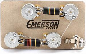 Emerson Custom Prewired Kit For Gibson Les Paul Guitars