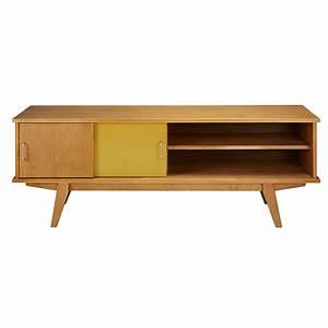 Meuble Tv Vintage : meuble tv vintage 2 portes tricolore paulette maisons du monde ~ Teatrodelosmanantiales.com Idées de Décoration