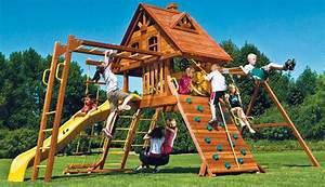 Jeux Exterieur Bois Enfant : cabane et toboggan de jardin cirque et balancoire ~ Premium-room.com Idées de Décoration