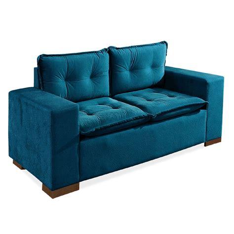 sofa turquesa sof 225 2 lugares azul turquesa braga r 1 590 00 em