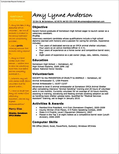 veterinary assistant resume templates free sles