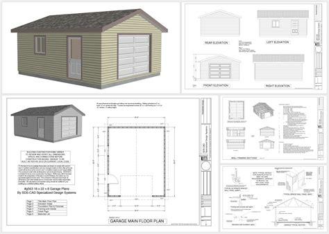 a frame house plans with garage free 18 x 22 garage plans http sdsplans com