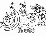 Salad Coloring Fruit Pages sketch template
