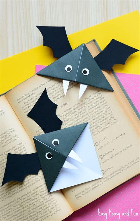 diy bat corner bookmarks halloween crafts easy peasy