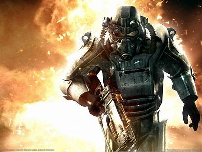 Fallout Brotherhood Steel Wallpapers Armor Power Pc