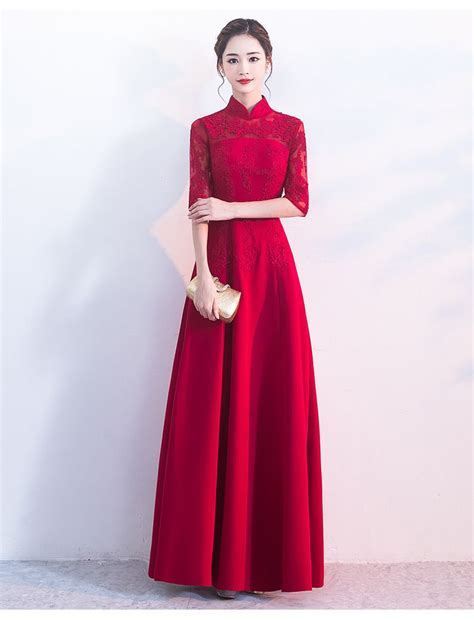 bride evening chinese wedding dress long qipao modern