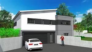 elegant maisons de plain pied multi pans et toit plat sur With attractive plan de maison cubique 15 maison plein pied moderne mc immo