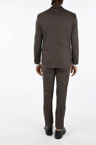 Hairline Lapel Suit Button Striped Academy Soft