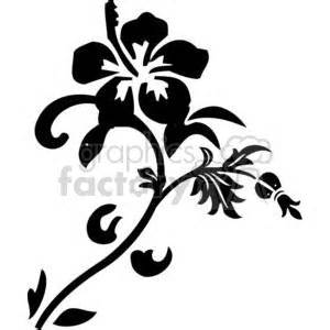 royalty  flowers hibiscus  vector clip art image