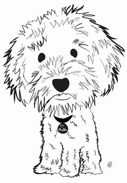 Labradoodle Australian Illustration Dog Drawing Coloring Doodle