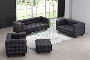 zuo modern button sofa black zm 900250 at homelementcom With zuo modern circus sectional sofa set