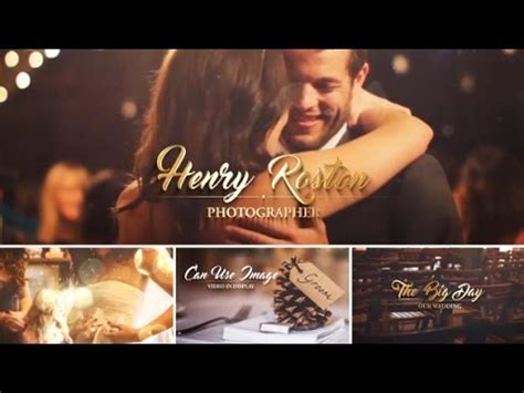 wedding intro  effects template envato videohive