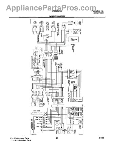 parts for white westinghouse wrs23w0aq3 wiring diagram parts appliancepartspros com