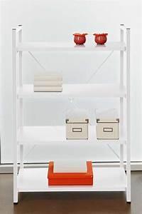 White Metal Frame Bookcase By Unique Furniture 213