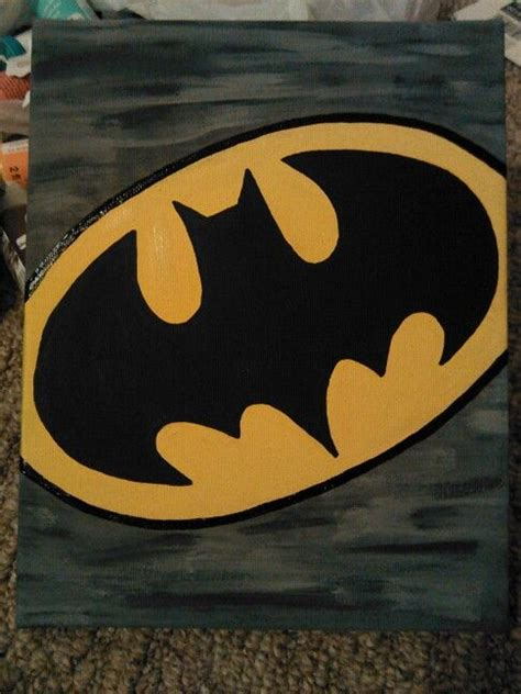 batman canvas  ive  batman painting