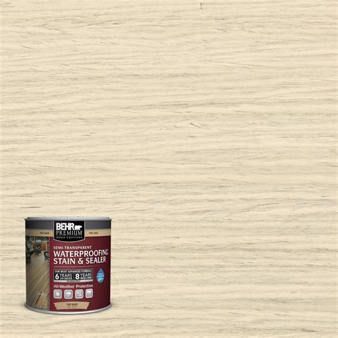 behr premium 8 oz st 157 navajo white transparent waterproofing exterior stain and