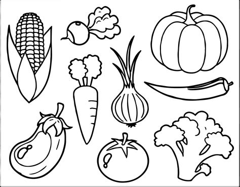 vegetable coloring page wecoloringpagecom