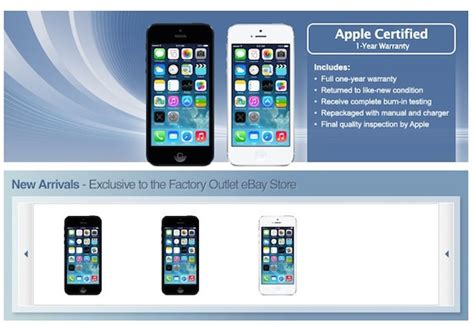ebay iphone 5 apple met en vente des iphone 5 reconditionn 233 s sur ebay