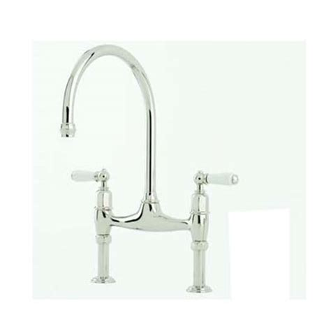 picture of kitchen sink perrin rowe ionian two sink mixer with porcelain 4193