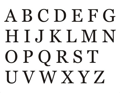 printable letters of the alphabet alphabet capital letters activity shelter 24073