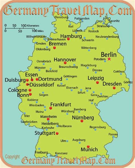 map  german cities germanyits   blood