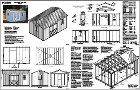 woodwork storage building plans     plans