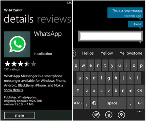 whatsapp messenger for windows phone updated brings chat mobilesyrup