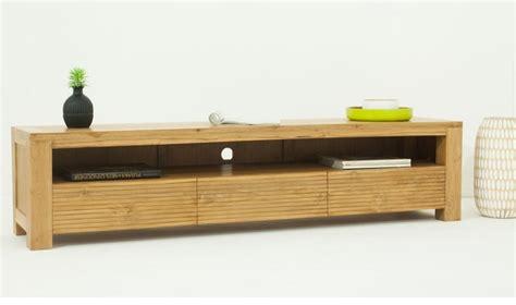 meuble tv en teck massif meuble de salon design en bois