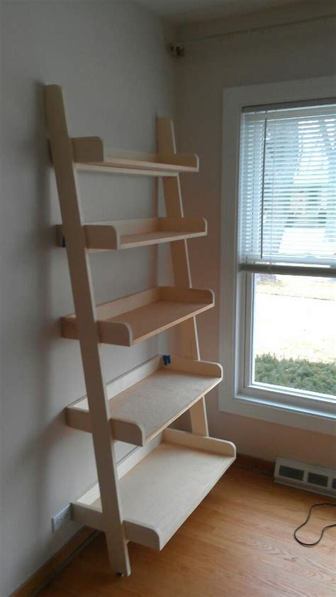 woodworking plans pottery barn leaning bookshelf plans