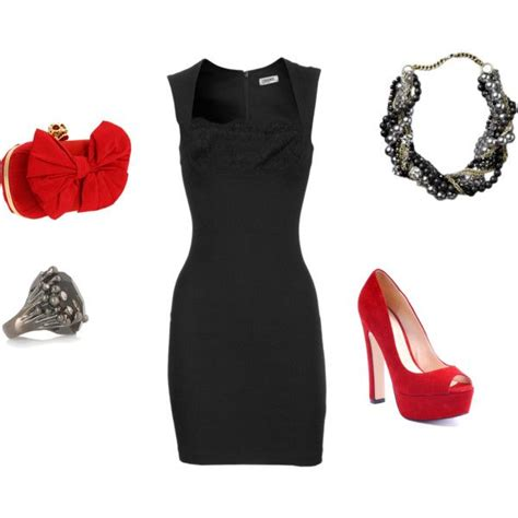 Simple black dress with a bright shoe. LOVE! Hereu0026#39;s an idea for tonight Pair a bright funky ...