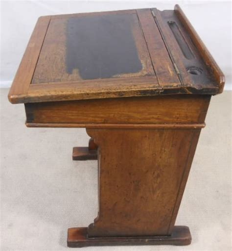 victorian pitch pine school teachers writing desk 112035