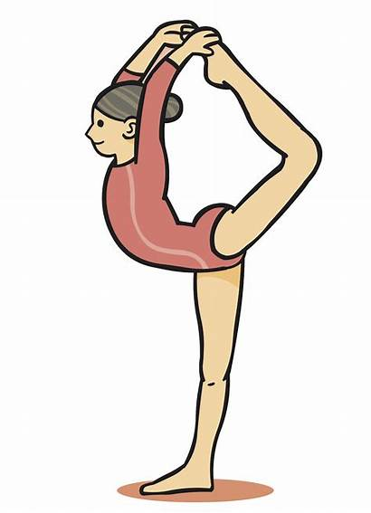Gymnastics Cartoon Clipart Drawing Transparent Gymnast Webstockreview