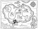 Coloring Map Neighborhood Treasure Pirate Printable Popular sketch template