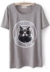 Cat Wearing Glasses Shirt