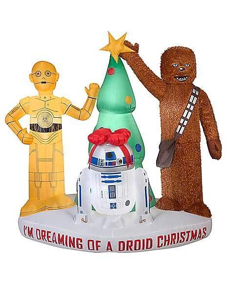 ft light  droid christmas inflatable star wars