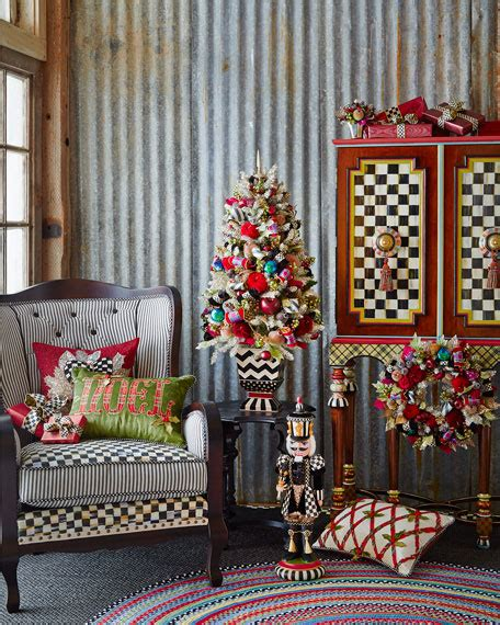 mackenzie childs holiday frost tabletop christmas tree