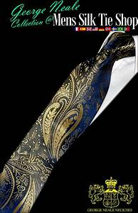 Azules Corbatas Florales   Enviamos Corbatas De Seda Para Hombres En Madrid  Sevilla  M U00e1laga Y