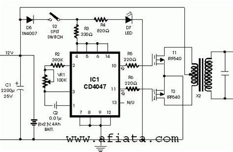 inverter circuit  cd   circuit diagram