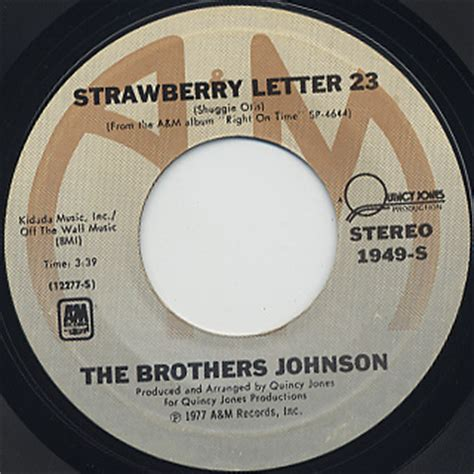 the brothers johnson strawberry letter 23 brothers johnson strawberry letter 23 7inch a m 中古 25143