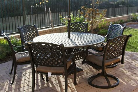 Patio Furniture Table by 7 Patio Dining Set Patio Outdoor Cast Aluminum