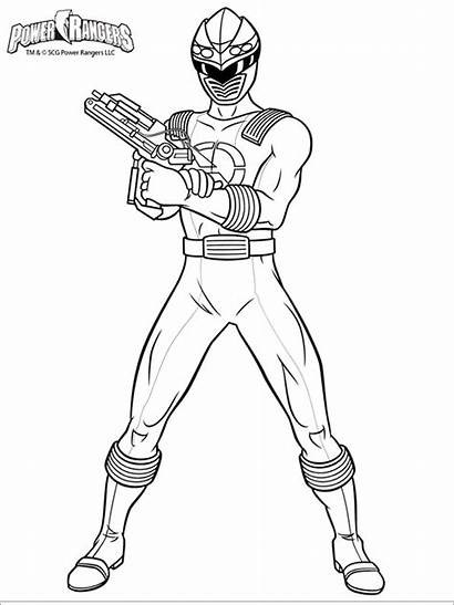Rangers Coloring Power Pages Printable Mycoloring Cartoon