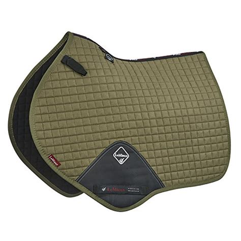 saddle pad hunt mieux jumping prosport suede olive le square close contact