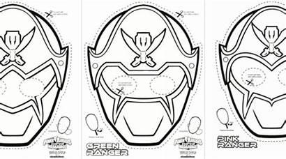 Power Coloring Rangers Printable Masks Ranger Mega