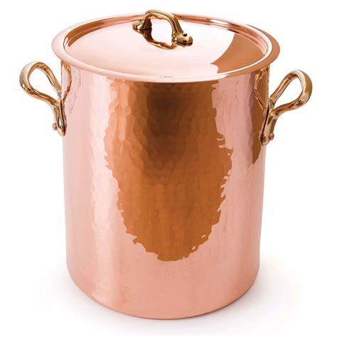 copper pot mauviel tin soup lined hammered passion quart extra longer cutleryandmore