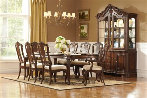 Havertys Bedroom Set by Rich Brown Finish Classic Dining Table W Optional Items